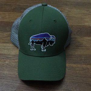 Patagonia buffalo green trucker hat
